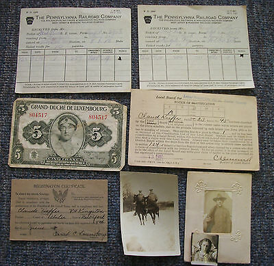 Lot of World War I Related Items from Kingston Ulster County NY Soldier, 1918