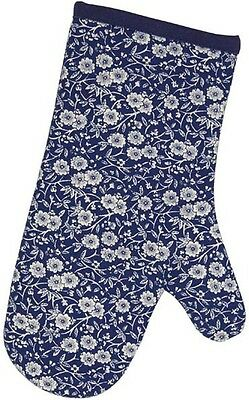 BURLEIGH CALICO BLUE OVEN MITT / GAUNTLET - BRAND NEW WITH TAG