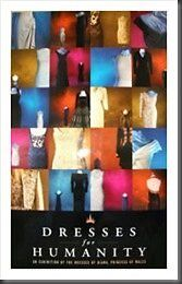 PRINCESS DIANA:DRESSES FOR HUMANITY POSTER ORIGINAL ONE FROM TOUR