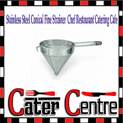 "Stainless Steel Conical Fine Strainer 9"" 220mm Chef Restaurant Catering Cafe"