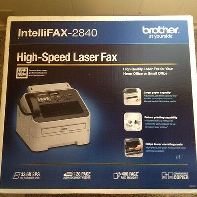 Brand New Brother Intellifax 2840 Monochrome Laser Fax Machine and Copier