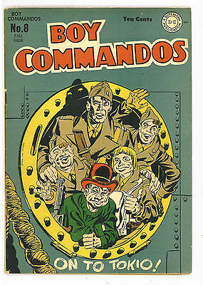 Boy Commandos #8, DC Comics 1944, Simon & Kirby cover VG/FN
