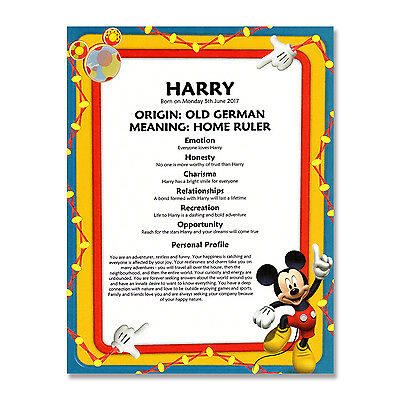 NAME MEANING CERTIFICATE 1st 2nd 3rd 4th 5th 6th 7th 8th 9th Any Birthday Gift