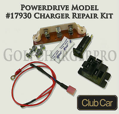 Club Car PowerDrive Golf Cart Battery Charger Repair Kit 48 V Model 17930