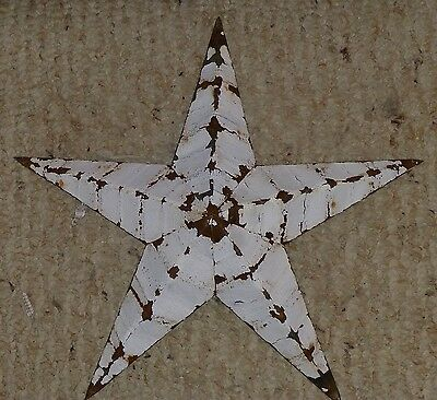 Best Rustic Genuine Amish Quality Primitive 22 inch Barn Star USA Made WHITE