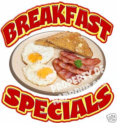 "Breakfast Specials 14"" Decal Egg Bacon Concession Restaurant Food Truck Sticker"