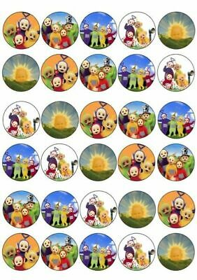 30 X Teletubbies Mixed Images Edible Cupcake Toppers Premium Rice Paper 204