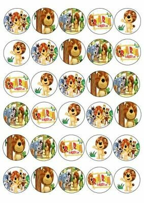 30 X Raa Raa The Noisy Lion Mixed Images Edible Cupcake Cake Toppers Rice Paper