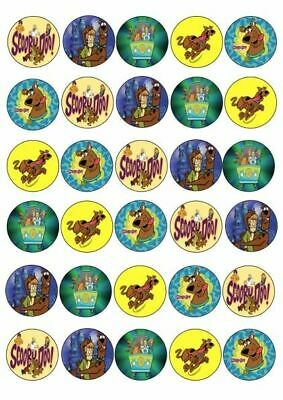 30 X Scooby Doo And Friends Mixed Images Edible Cupcake Toppers Rice Paper 170
