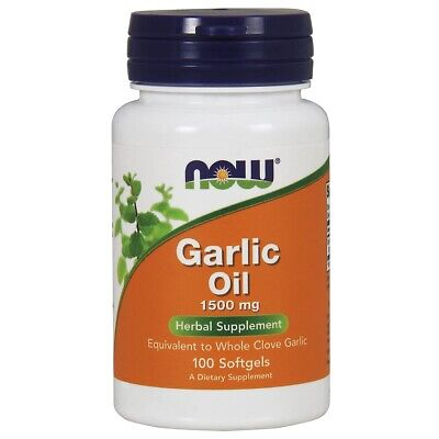 NOW FOODS Garlic Oil Triple 3 x Strength 1500 mg 100 Softgels FRESH Made In USA