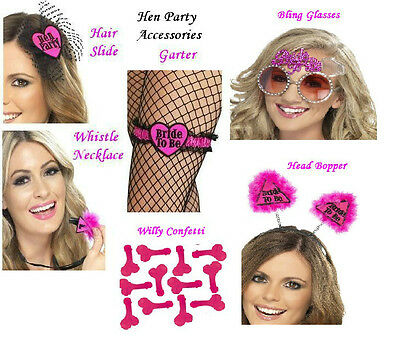 Smiffy's  Bride To Be / Hen Party / Girls Night Out Accessories Choice Designs