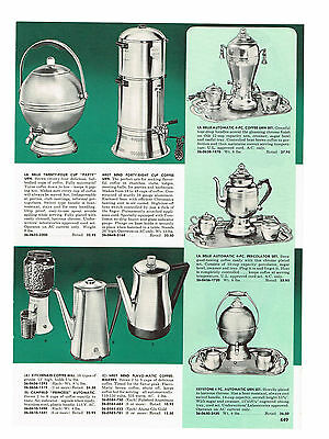 1955 AD LABELLE WEST BEND  KITCHEN AID CORY COFFEE PERCOLATOR BREWER URNS