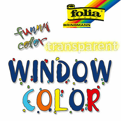 folia Window Color 80 ml transparent Fenstermalfarbe Glasmalfarbe Fensterfarbe