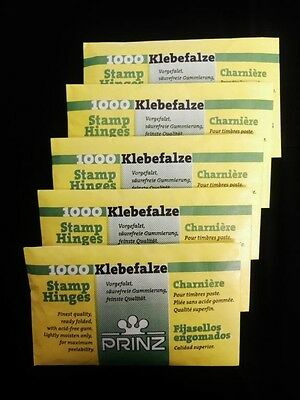 PRINZ Stamp HINGES New 5 PACKS Of 1000 (5000 Hinges) Free Shipping!