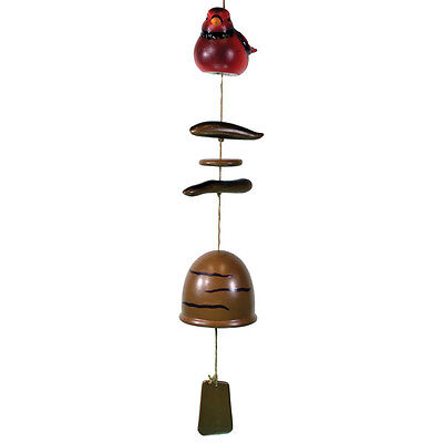 Bird Wind Chime Windchime Tube Home Garden Decor New with Ceramic Bell