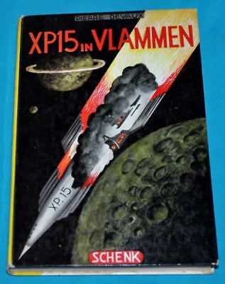 pierre devaux XP15 in vlammen BOOK DUTCH '50s sf science fiction space