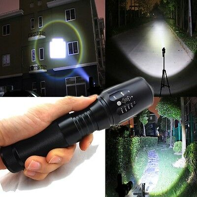 2000 Lumen Zoomable CREE XML T6 LED 18650 Flashlight Focus Torch Zoom Lamp Light