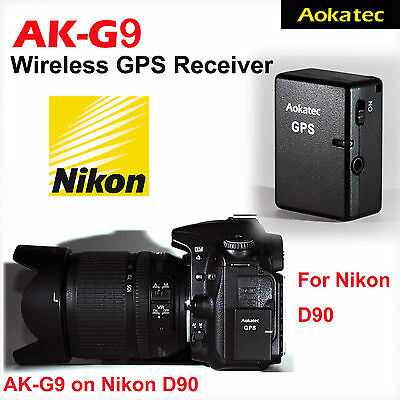 Aokatec AK-G9 GPS Receiver for Nikon D90