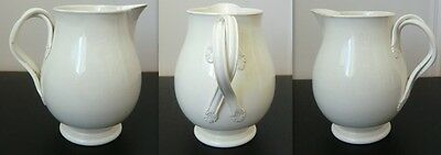 19th Century Creamware Creamer with double twisted Handles