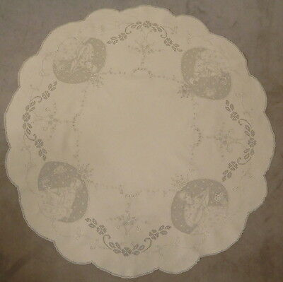 Exquisite hand made Appenzell Doily with figural Medaillons