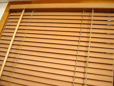 new 27mm solid basswood timber venetian blind, colour: golden oak