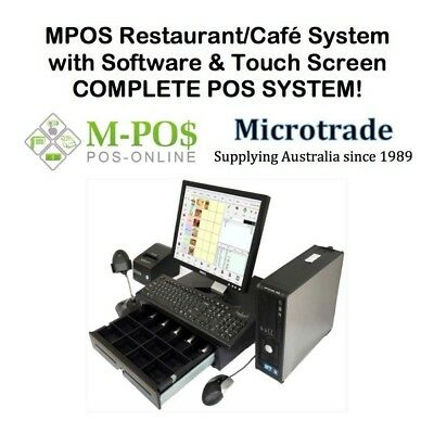 "POS 15"" Cash Register System with Touch Screen & MPOS General Retail software."