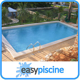 Kit piscine acier enterrer 8 x 4 x ht 1 50 m ovale for Kit piscine acier