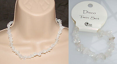 NEW 'DISCO' NECKLACE AND BRACELET TWIN SET (CA3690)