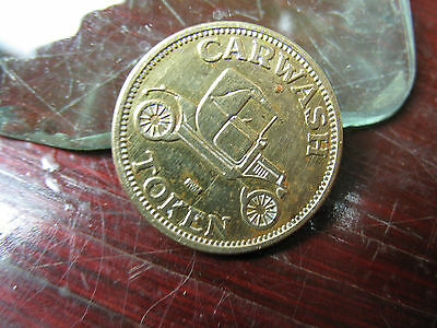Car  Wash  Token   Rwm  Vintage  Very  Good