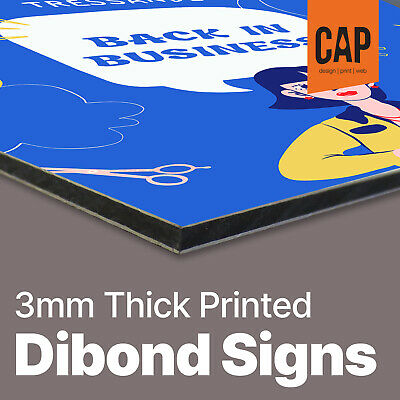 Dibond Signs Printing | Personalised Advertising Boards | Strong Aluminium Signs