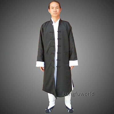 Beautiful Shaolin Monk Taoist Wing Chun Long Robe Tai chi Kung fu Suit