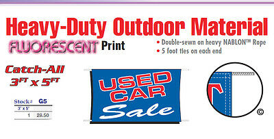 print for sale sign for car