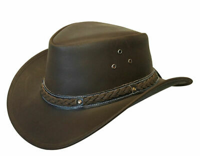 LEATHER HAT AUSSIE BUSH STYLE  Classic Western Outback