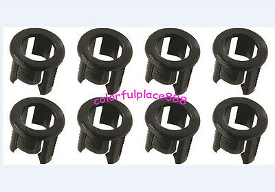 100pcs 5mm Black Plastic LED Clip Holder Case Cup Mounting Holders for 5mm LEDs