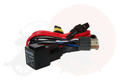 HID Relay Wiring Harness for Motorcycle H4 H/L Bi-Xenon Bulb Type