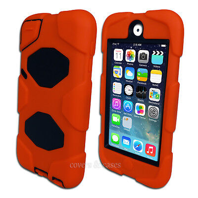 Orange Tough Protective Heavy Duty Case for iPod Touch 5 6 5th 6th Gen Cover