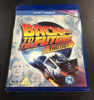 BACK TO THE FUTURE Trilogy (3-Disc Blu-ray Set) Complete All 3 Movies
