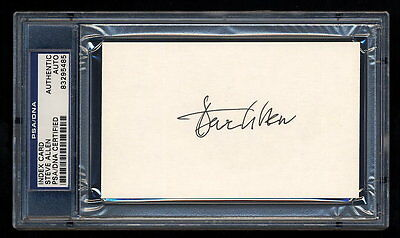 Steve Allen Signed Index Card Mint Psa/dna Slabbed Autograph Tonight Show