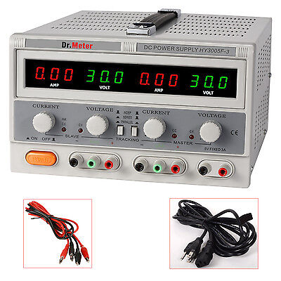 Dr.Meter HY3005F-3 VARIABLE Triple Output Linear DC Regulated Power Supply 30V5A