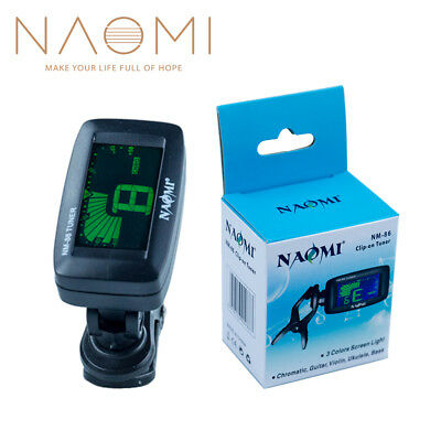 Naomi Tuner Guitar Tuner Ukulele Tuner Clip-On Chromatic Violin Bass NM-86 NEW
