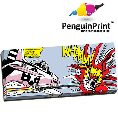Large Roy Lichtenstein Whaam! Plane Modern Pop Art -Premium Quality Canvas Print