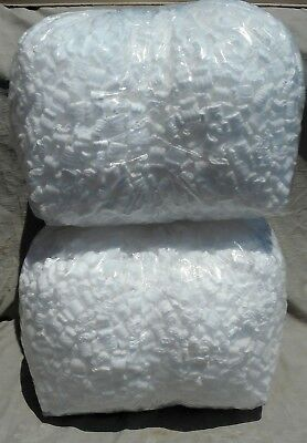 7 cu ft WHITE POPCORN Anti Static PACKING PEANUTS  FREE SHIP NEW WHITE