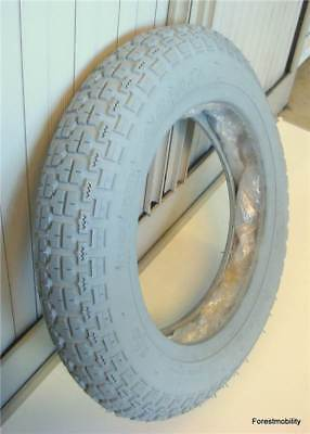 300x10 Grey Block Tread Mobility Scooter Tyre 3.00-10 Electric Wheelchair