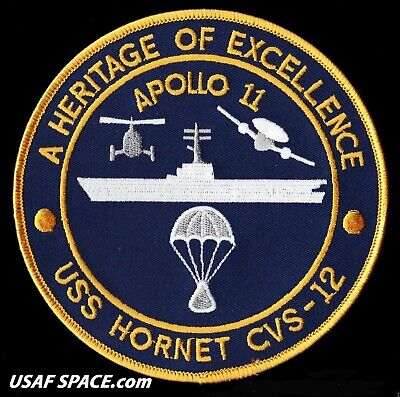 """Apollo 11 Recovery Ship - Uss Hornet Cvs-12 - A Heritage Of Excellence  5"""" Patch"""