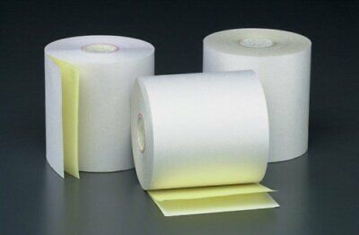 "3"" x 90' 2-PLY CARBONLESS PoS RECEIPT PAPER - 32 NEW ROLLS  ** FREE SHIPPING **"