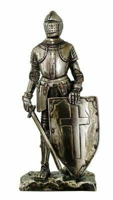 Medieval Knight Decorative Figurine Crusader Standing Guard Statue Suit of Armor