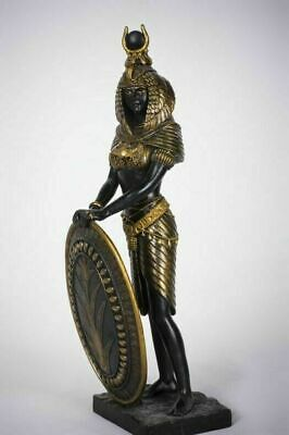 Ancient Egyptian Decorative Legendary Goddess Isis With Shield Figurine Statue