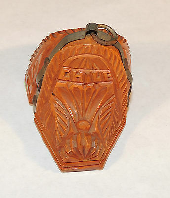 Carved Wooden Souvenir Opener Chile Saddle (4242)