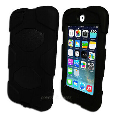 Black Tough Protective Heavy Duty Case for iPod Touch 5 6 5th 6th Gen Cover
