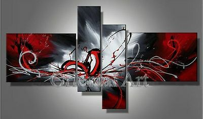 NEW*4pc Huge Modern Abstract on Canvas Oil Painting Art